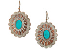 M&F Western Chocolate and White Oval Concho Earrings
