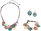 M&F Western Multi Metal Disc Three-Piece Jewelry Set