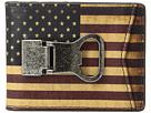 M&F Western Vintage USA Flag Money Clip Wallet
