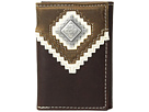 M&F Western Zigzag Overlay Trifold Wallet