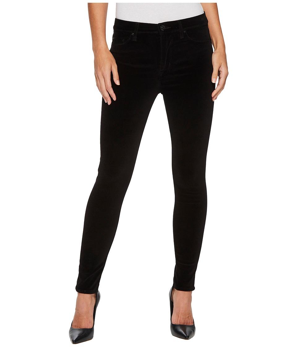 Hudson Barbara High-Waist Super Skinny Velvet Jeans in Black Star (Black Star) Women