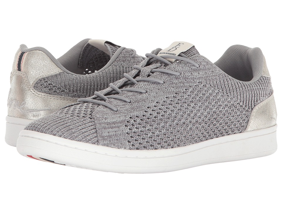 ED Ellen DeGeneres Casie (Silver/Dark Silver Worn Metallic/Knit) Women's Shoes