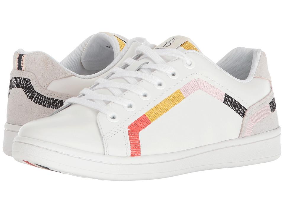 ED Ellen DeGeneres - Costella (Pure White Montecito Leather) Womens Lace up casual Shoes