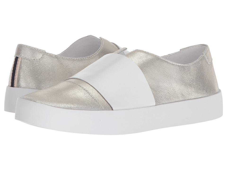 ED Ellen DeGeneres Garstin (Silver/White Worn Metallic) Women's Shoes