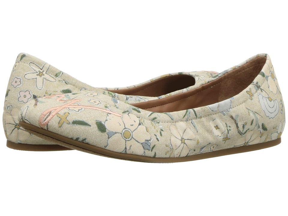 ED Ellen DeGeneres - Langston (Neutral Multi Floral Light Linen) Womens Flat Shoes