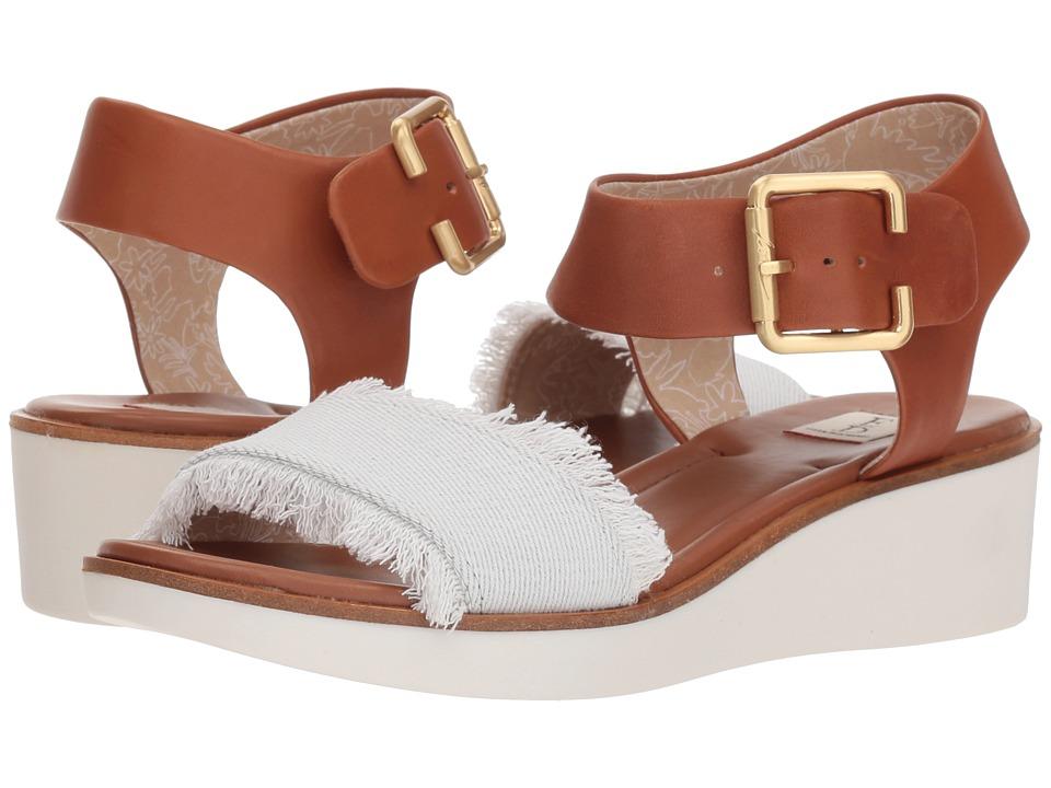 ED Ellen DeGeneres - Satiana (Pure White Denim Ticking) Womens Shoes