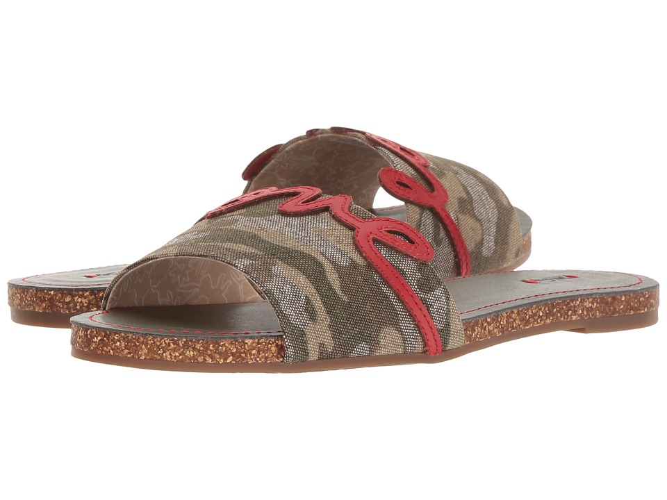 ED Ellen DeGeneres Sharlin (Heart Camo Forest Linen Wash) Women's Shoes