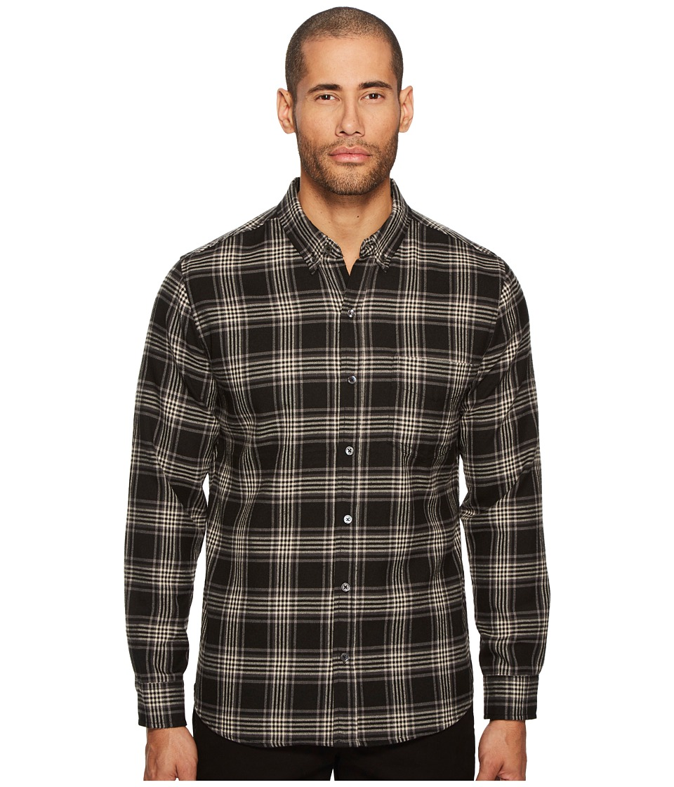 BALDWIN - William Plaid Shirt (Black) Mens Long Sleeve Button Up