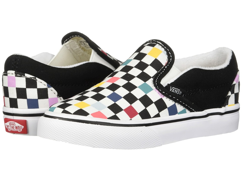 Vans Kids - Classic Slip-On (Toddler) ((Party Checker) Multi/Black) Kids Shoes