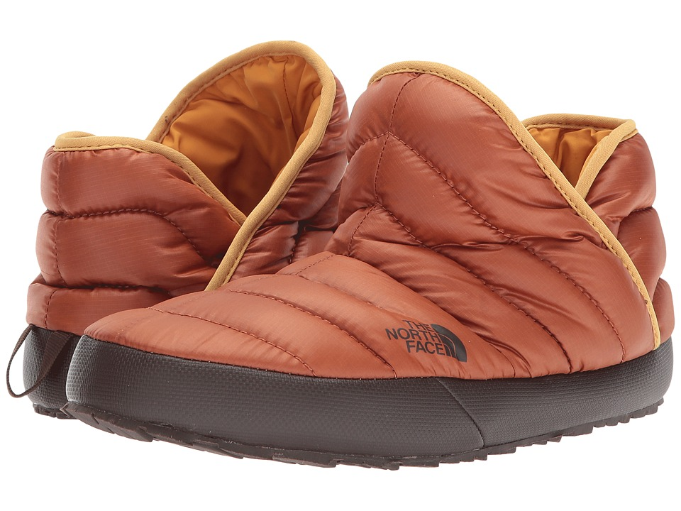 The North Face ThermoBall Traction Bootie (Shiny Gingerbread Brown/Bright Gold) Men