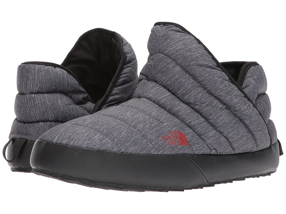 The North Face ThermoBall Traction Bootie (Phantom Grey Heather Print/Ketchup Red) Men