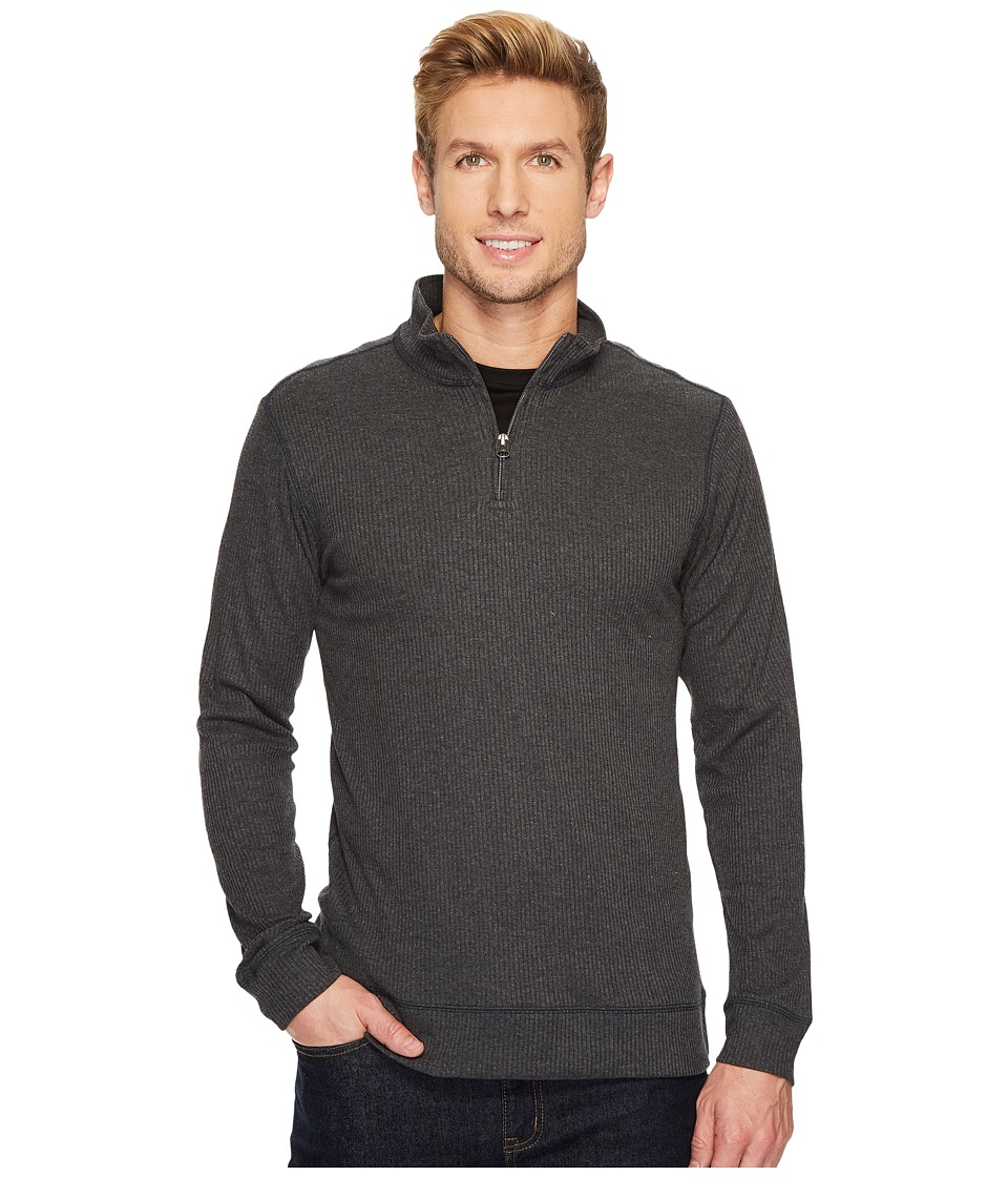 Vintage 1946 - Drop Needle Q-Zip Pullover (Charcoal) Mens Long Sleeve Pullover