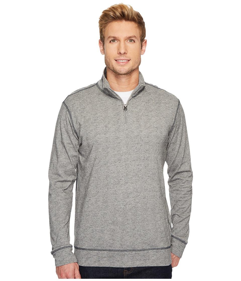 Vintage 1946 - Rib Q-Zip Pullover (Light Grey) Mens Long Sleeve Pullover