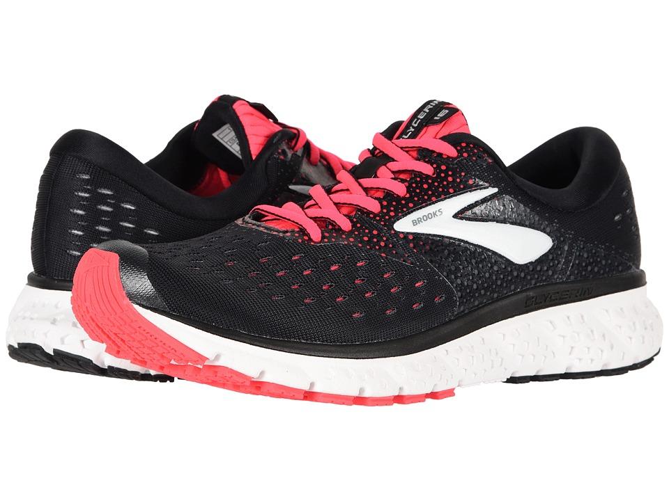 Brooks Glycerin 16 (Black/Pink/Grey) Women's Running Shoes