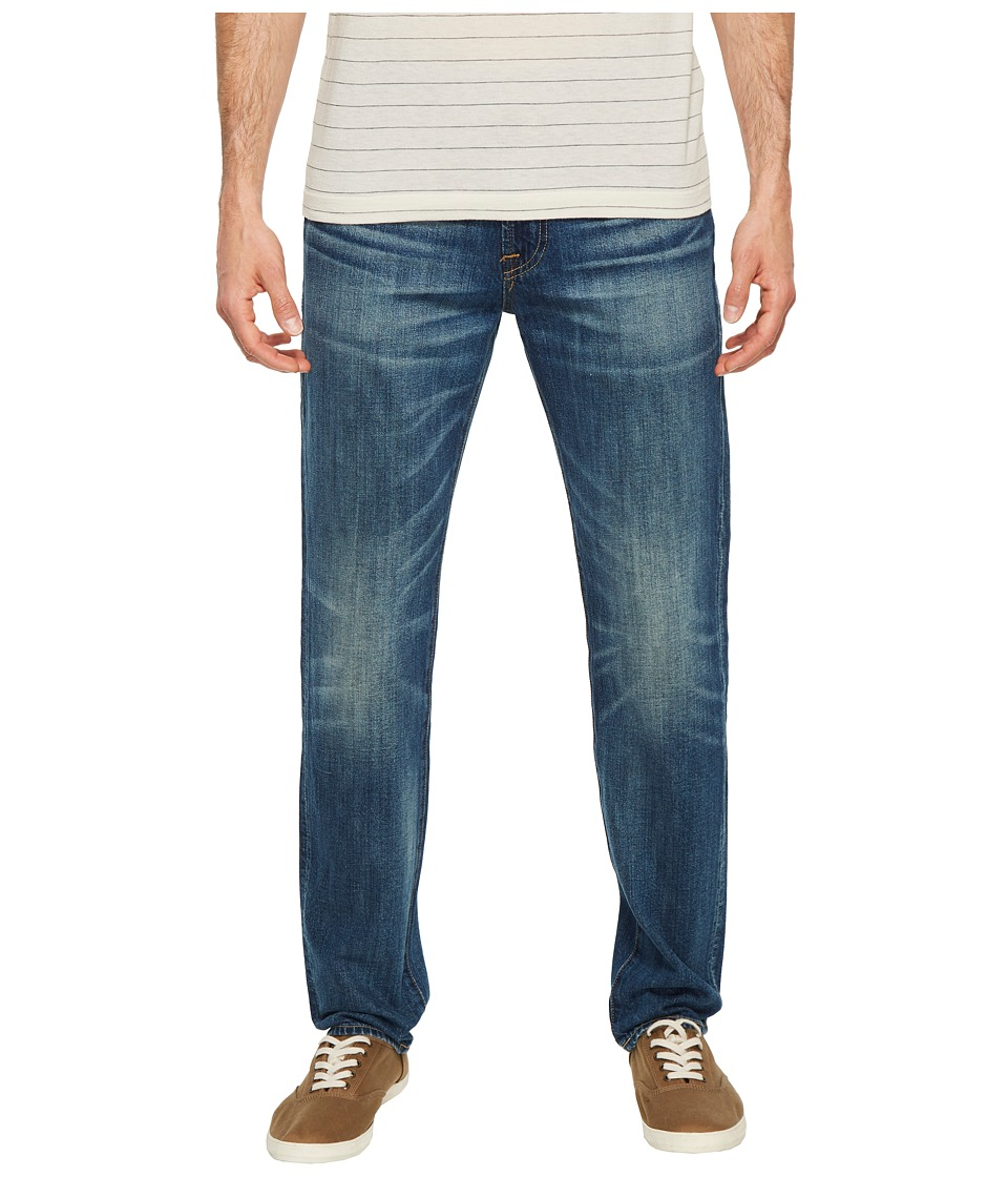 Image of 7 For All Mankind - Adrien Easy Slim Worn From Raw in Legend (Legend) Men's Jeans