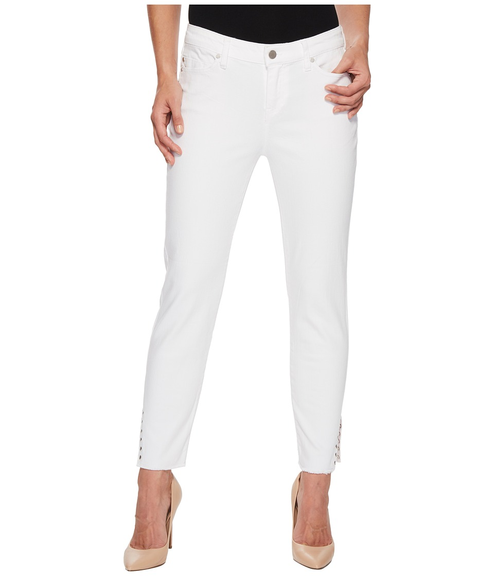 Liverpool - Maya Crop with Side Ankle Rivets in Comfort Stretch Denim in Bright White (Bright White) Womens Jeans
