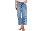 Liverpool Liverpool Allison Crop Raw Edge in Vintage Super Comfort Stretch Printed Denim in Melbourne Light