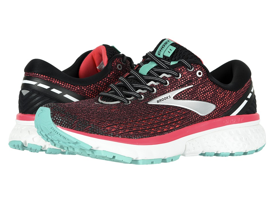 Brooks Ghost 11 (Black/Pink/Aqua) Women's Running Shoes