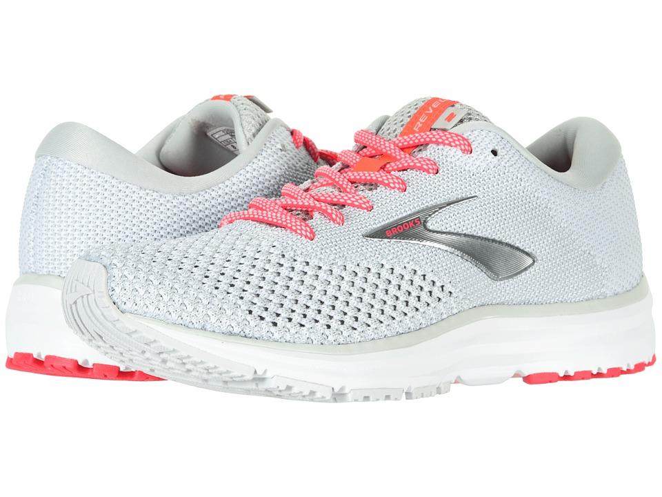 Brooks Revel 2 (Grey/White/Pink) Women's Running Shoes