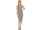 Adrianna Papell Spotted Stretch Jacquard Sheath Dress