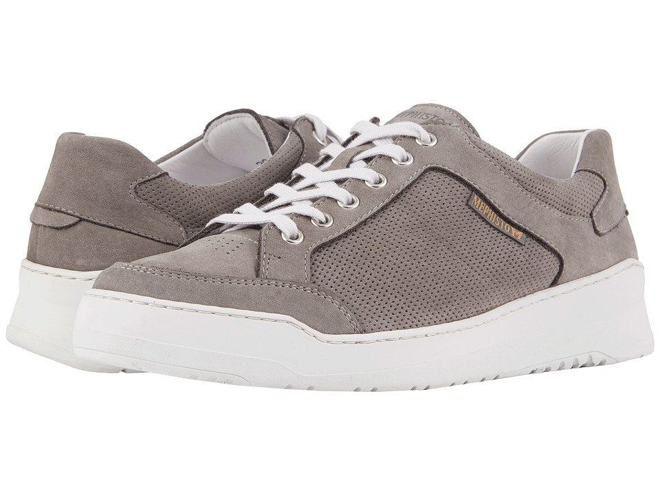 Mephisto - Mathias Perf (Light Grey Sportbuck) Mens  Shoes