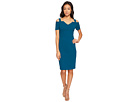 Adrianna Papell Knit Crepe Cold Shoulder Sheath Dress