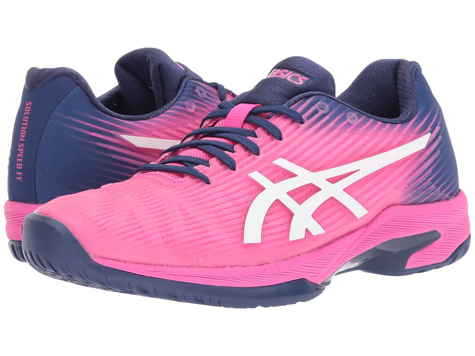 ASICS Solution Speed FF (Pink Glo/White) Women's Tennis Shoes