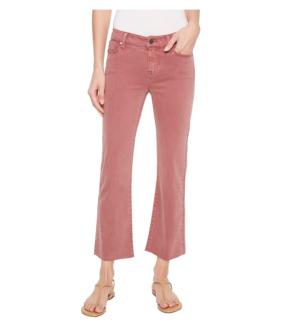 Liverpool Hannah Crop Flare in Slub Stretch Twill in Roan Rouge (Roan Rouge) Women