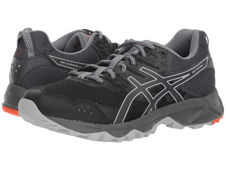 ASICS GEL-Sonoma 3 (Black/Dark Grey) Women's Running Shoes