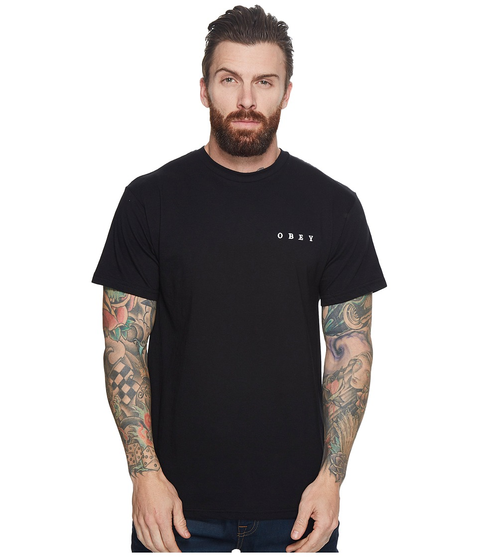 Obey Fight with Words Tee (Black) Men