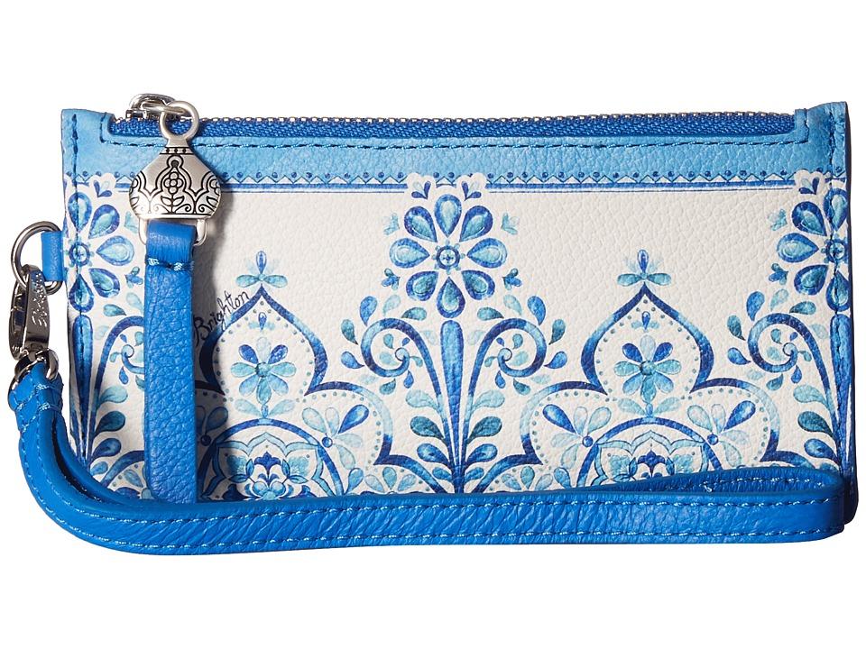 Brighton - Casablanca Garden Card Pouch (White/Blue) Travel Pouch