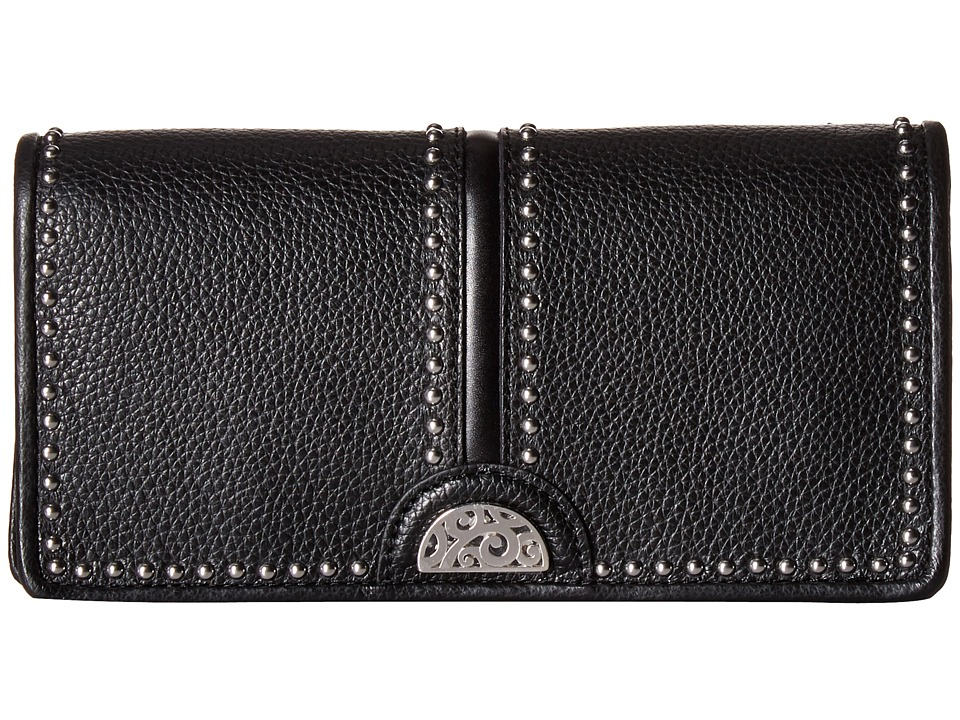 Brighton - Rockmore Large Wallet (Black) Travel Pouch