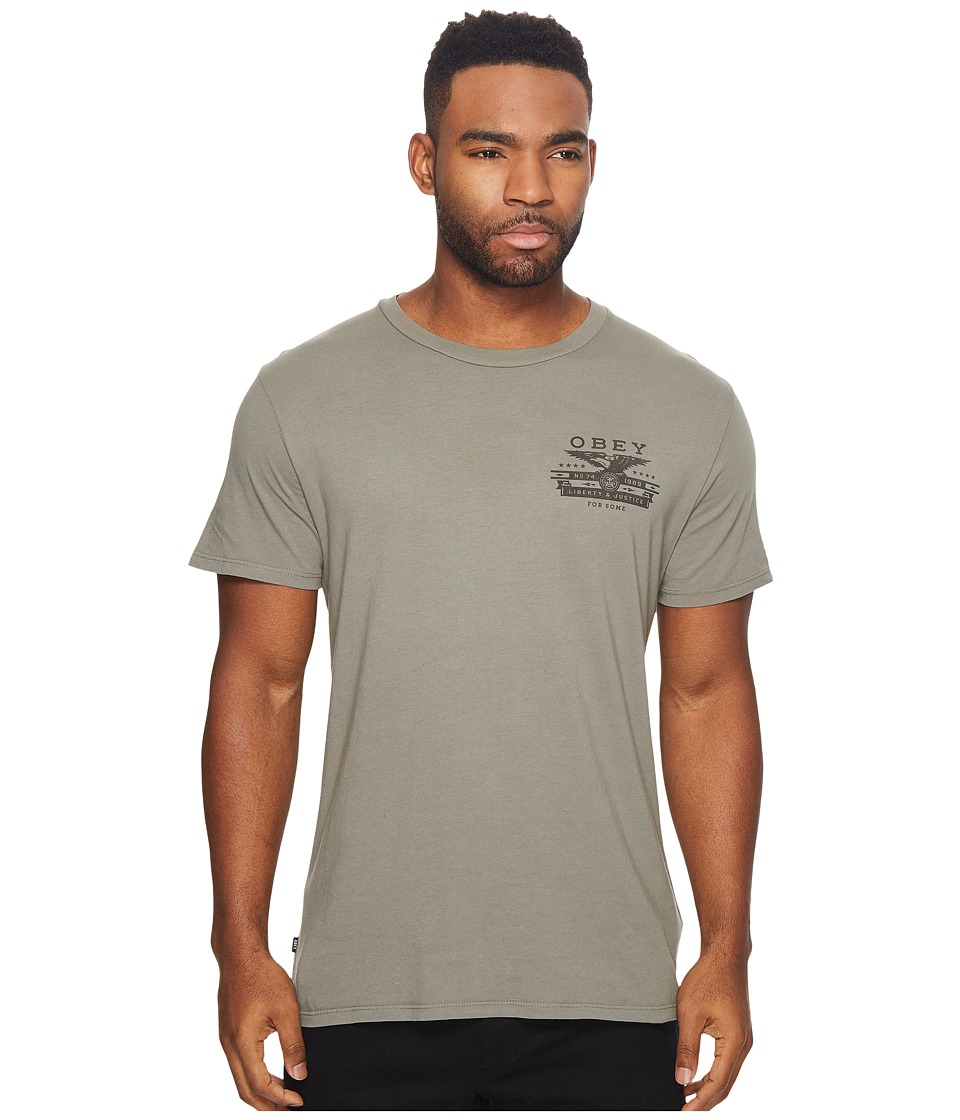 Obey Dissent Justice Eagle Tee (Light Army) Men