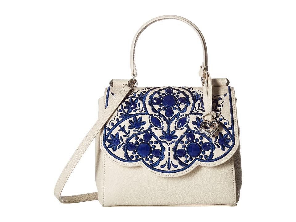 Brighton - Meena Top-Handle Crossbody (White Multi) Cross Body Handbags