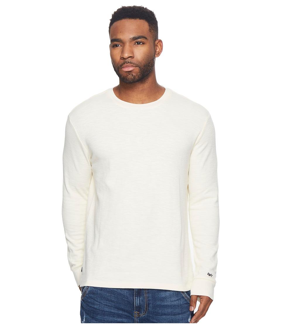 Obey Normal Long Sleeve Knit Tee (Cream) Men