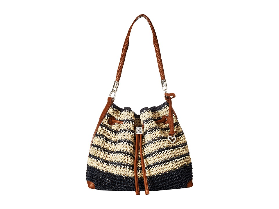 Brighton - Sierra Straw Hobo (Multi) Hobo Handbags