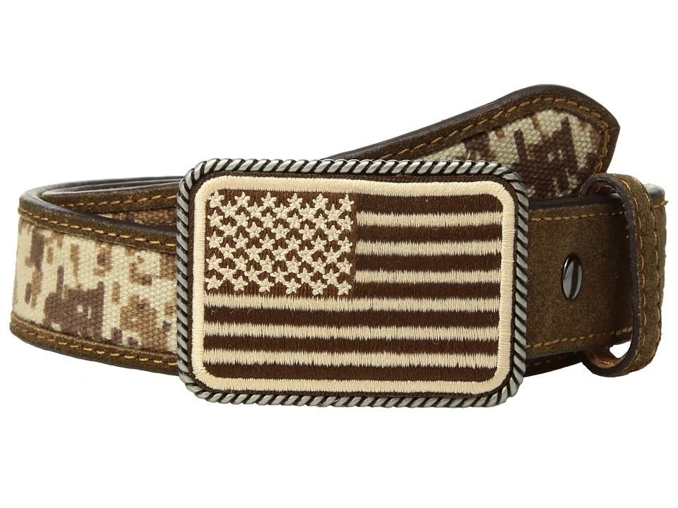 Ariat - Sport Patriot w/ USA Flag Buckle Belt