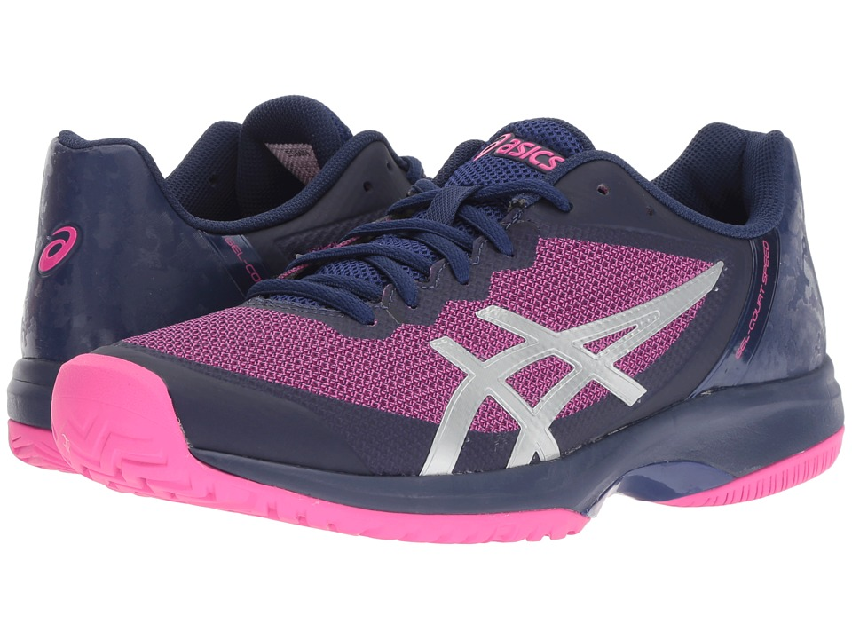 ASICS Gel-Court Speed (Blue Print/Pink Glo) Women's Cross Training Shoes