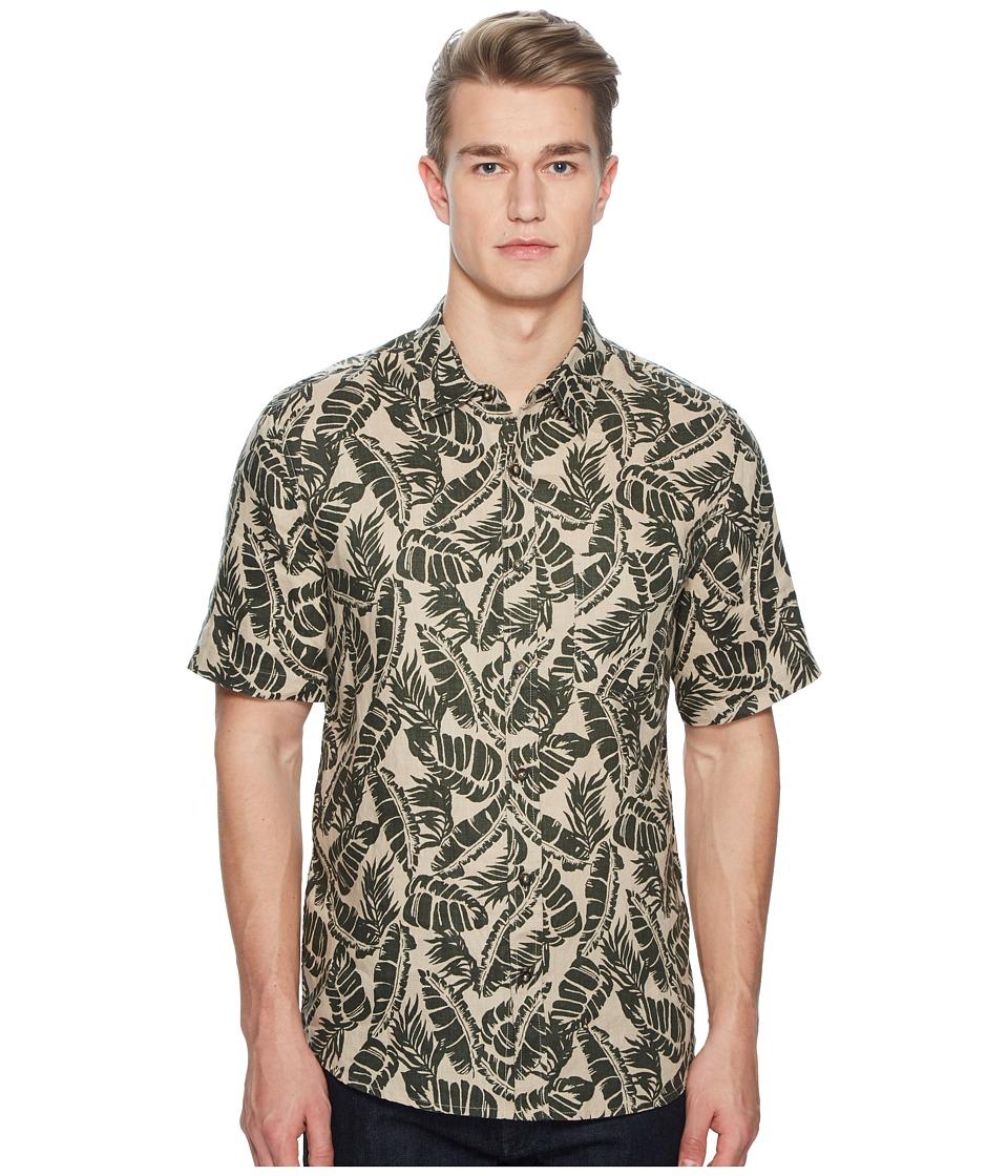 BALDWIN - Vista Palm Leaf Short Sleeve Shirt (Green) Mens Short Sleeve Button Up