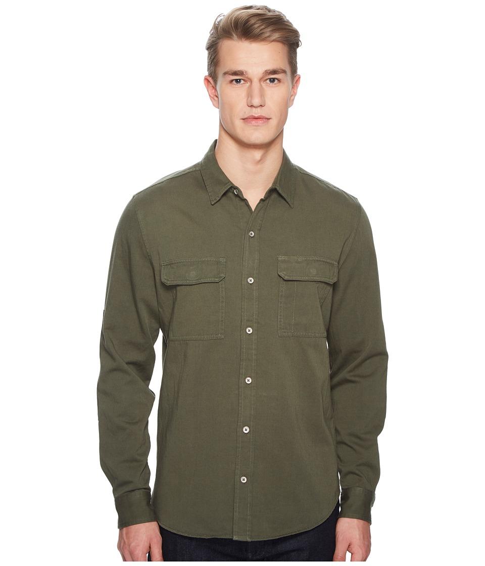 BALDWIN - Wallace Shirt (Military Green) Mens Long Sleeve Button Up