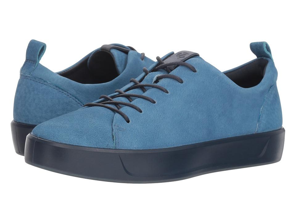 ECCO Soft 8 Sneaker (Indigo 7 Blue Lagoon)