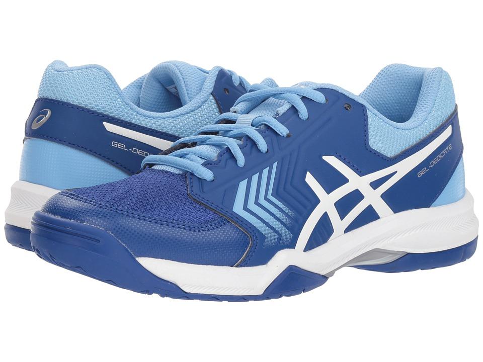 ASICS Gel-Dedicate 5 (Monaco Blue/White) Women's Tennis Shoes