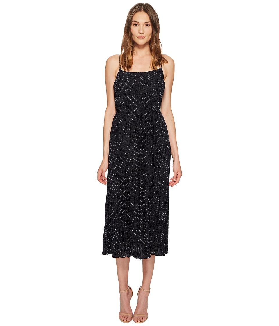 Vince - Polka Dot Pleated Cami Dress (Coastal/Sandstone) Womens Dress