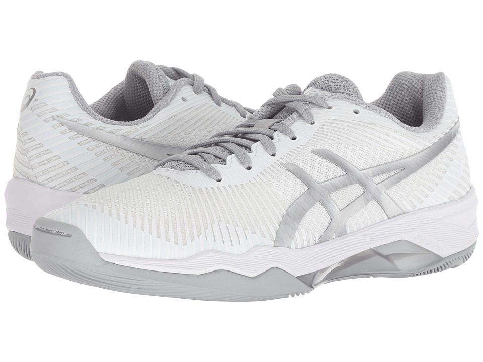 ASICS Volley Elite FF (White/Silver) Women's Volleyball Shoes