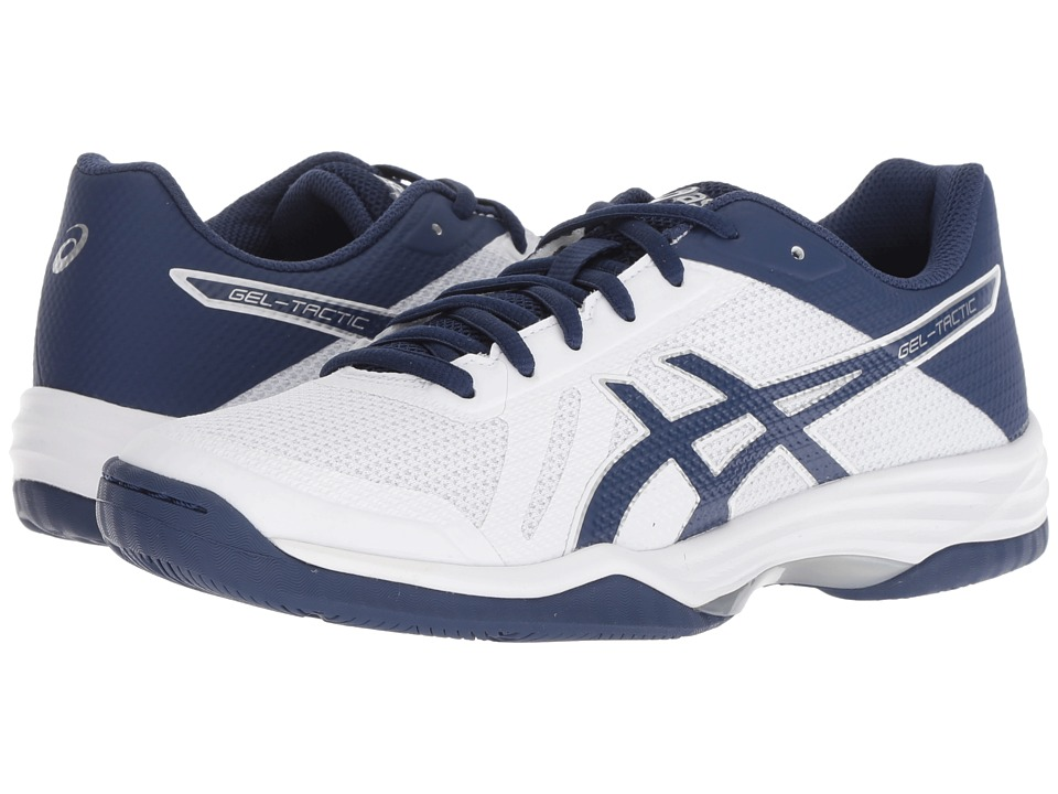 ASICS Gel-Tactic 2 (Real White/Deep Ocean) Women's Volleyball Shoes