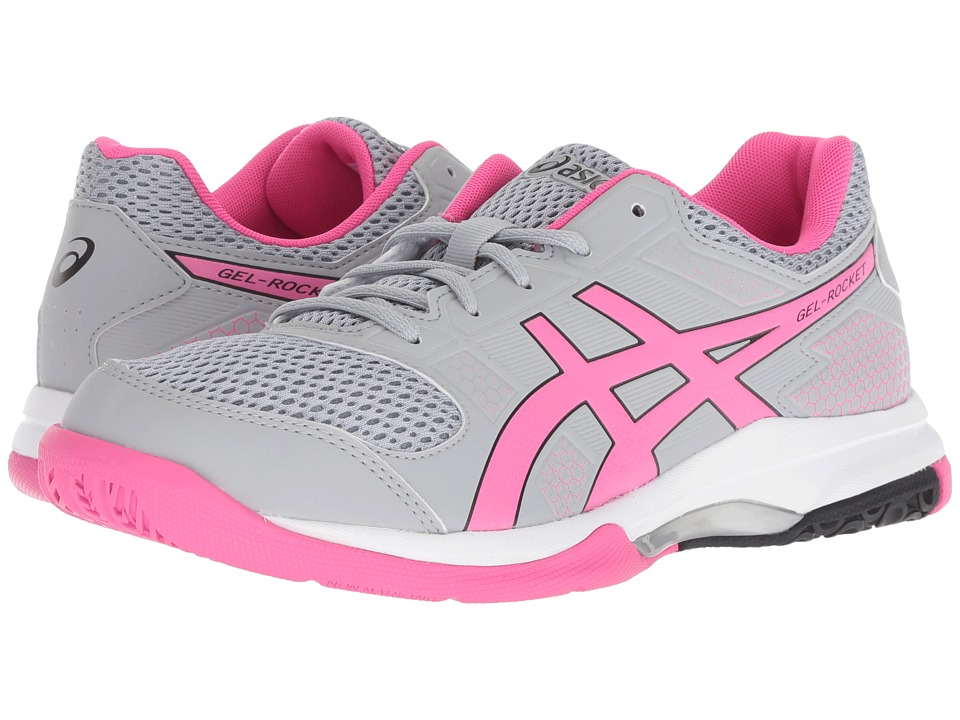 ASICS Gel-Rocket 8 (Mid Grey/Pink Glo) Women's Volleyball Shoes