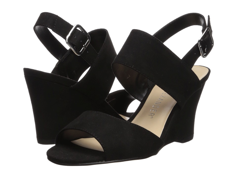 Athena Alexander - Slayte (Black Suede) Womens Wedge Shoes