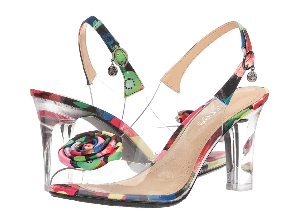 J. Renee Adoracion (Clear/Black/Blue/Red) High Heels