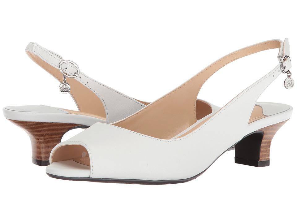 Vintage Wedding Shoes, Flats, Boots, Heels J. Renee - Aldene Pure White High Heels $99.95 AT vintagedancer.com