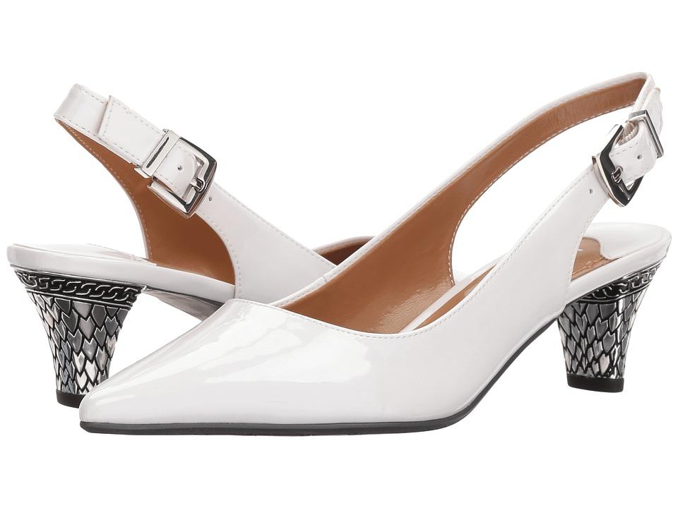 Vintage Wedding Shoes, Flats, Boots, Heels J. Renee - Mayetta White Pearl High Heels $89.95 AT vintagedancer.com